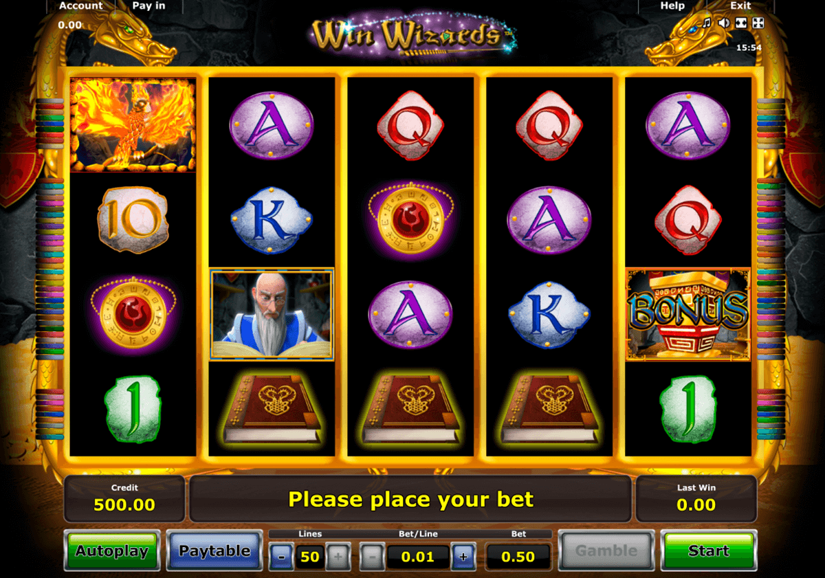win wizards novomatic casino gokkasten