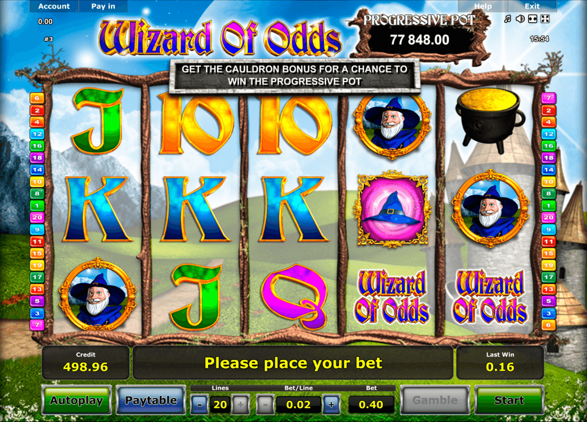 wizard of odds novomatic casino gokkasten