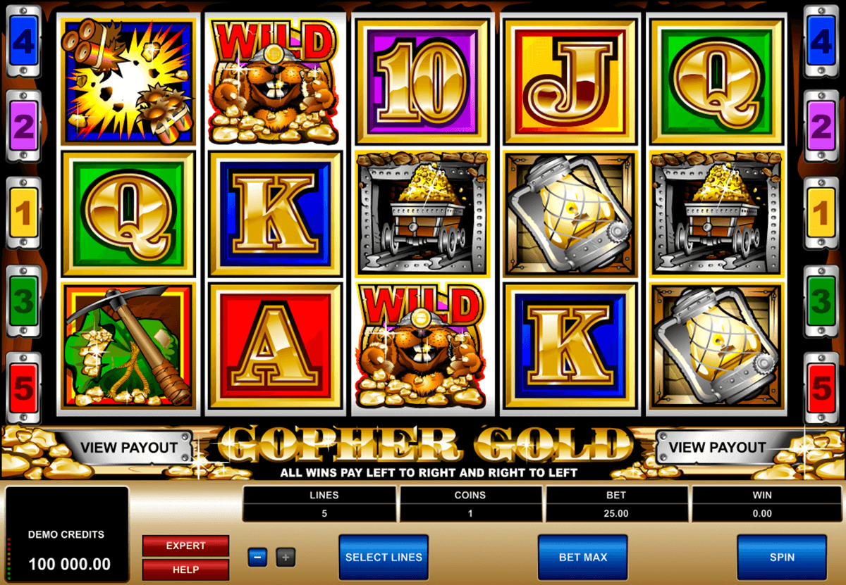 gopher gold microgaming casino gokkasten