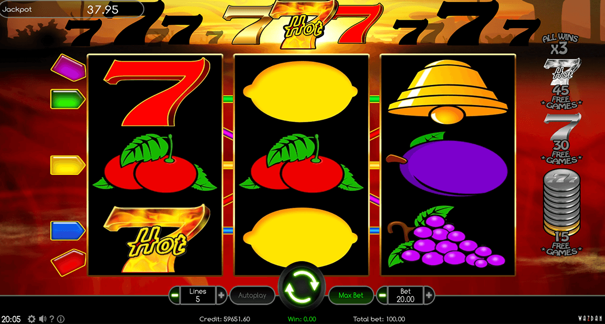 hot 777 wazdan casino gokkasten