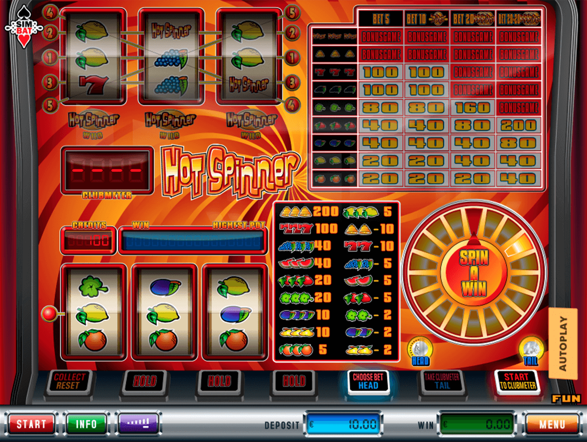 hot spinner simbat casino gokkasten