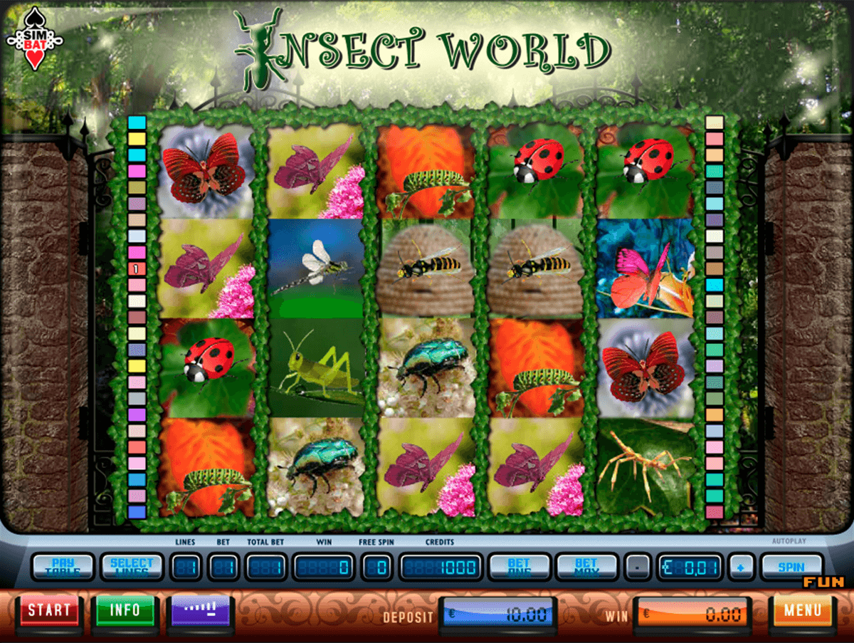 insect world simbat casino gokkasten