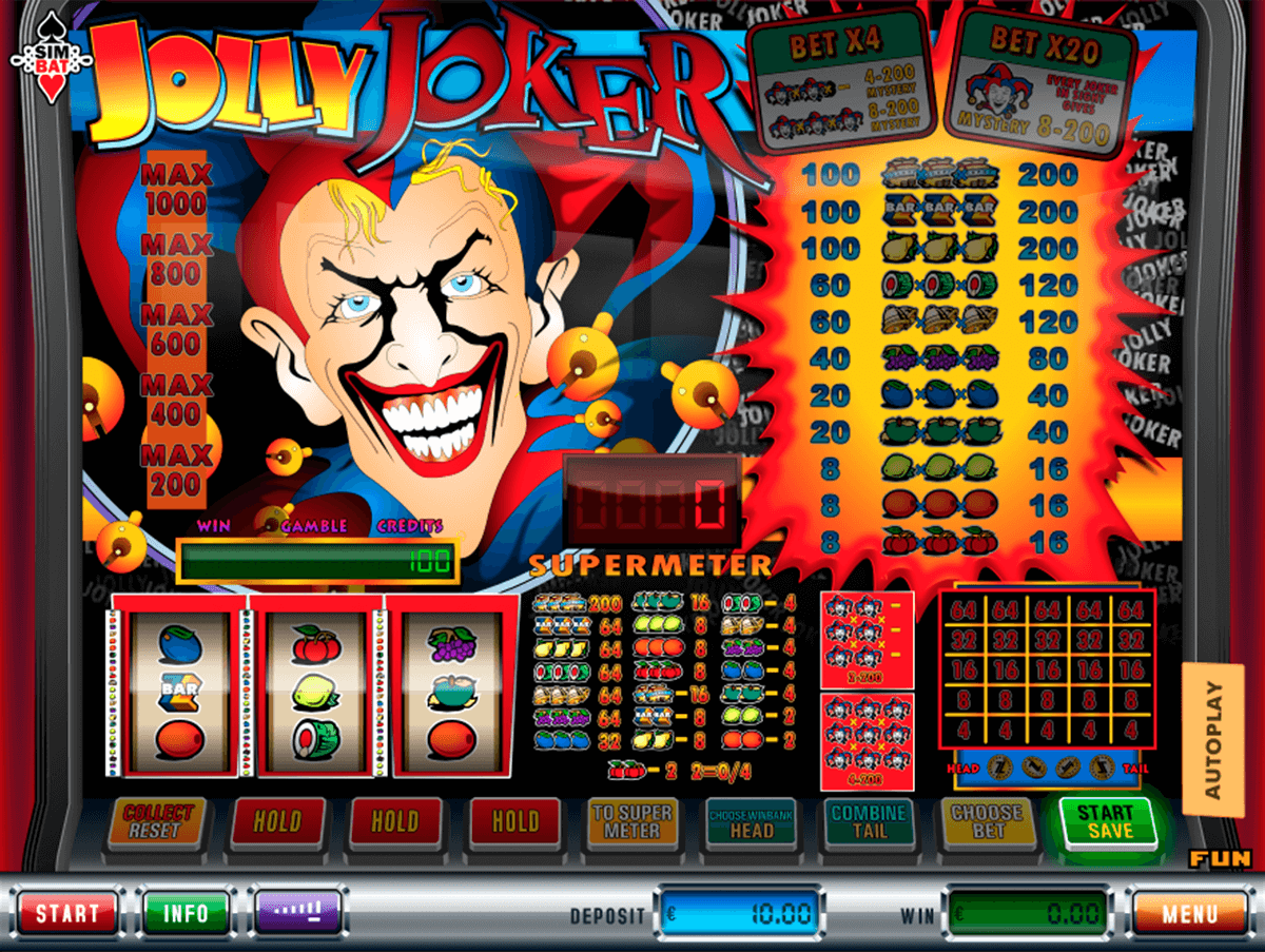 jolly joker simbat casino gokkasten