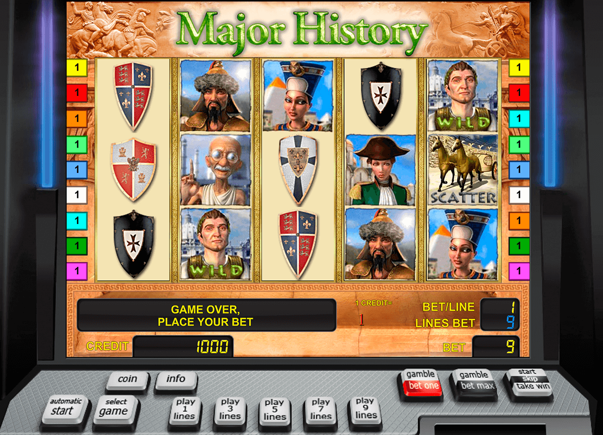 major history novomatic casino gokkasten