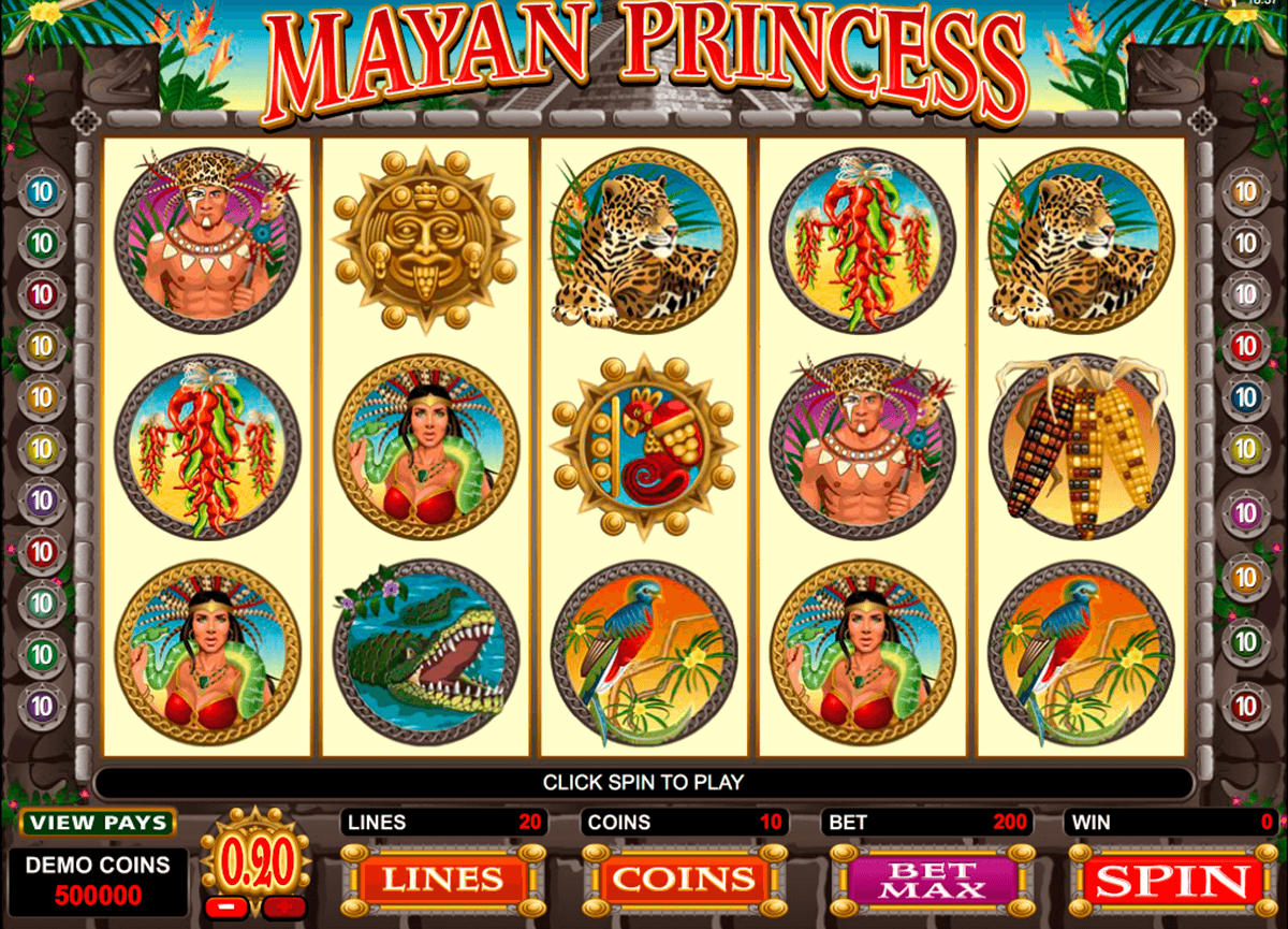 mayan princess microgaming casino gokkasten