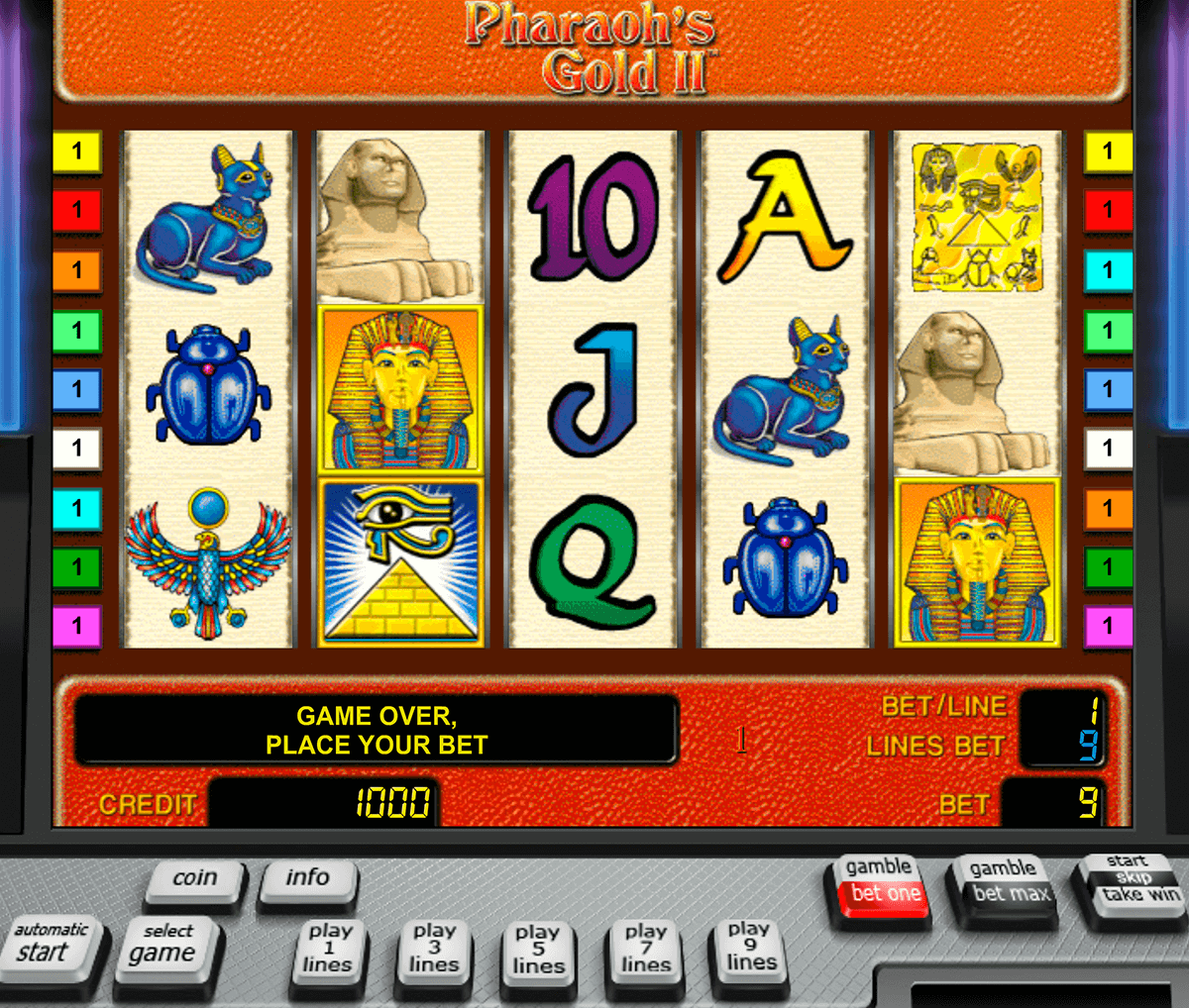 pharaohs gold ii novomatic casino gokkasten