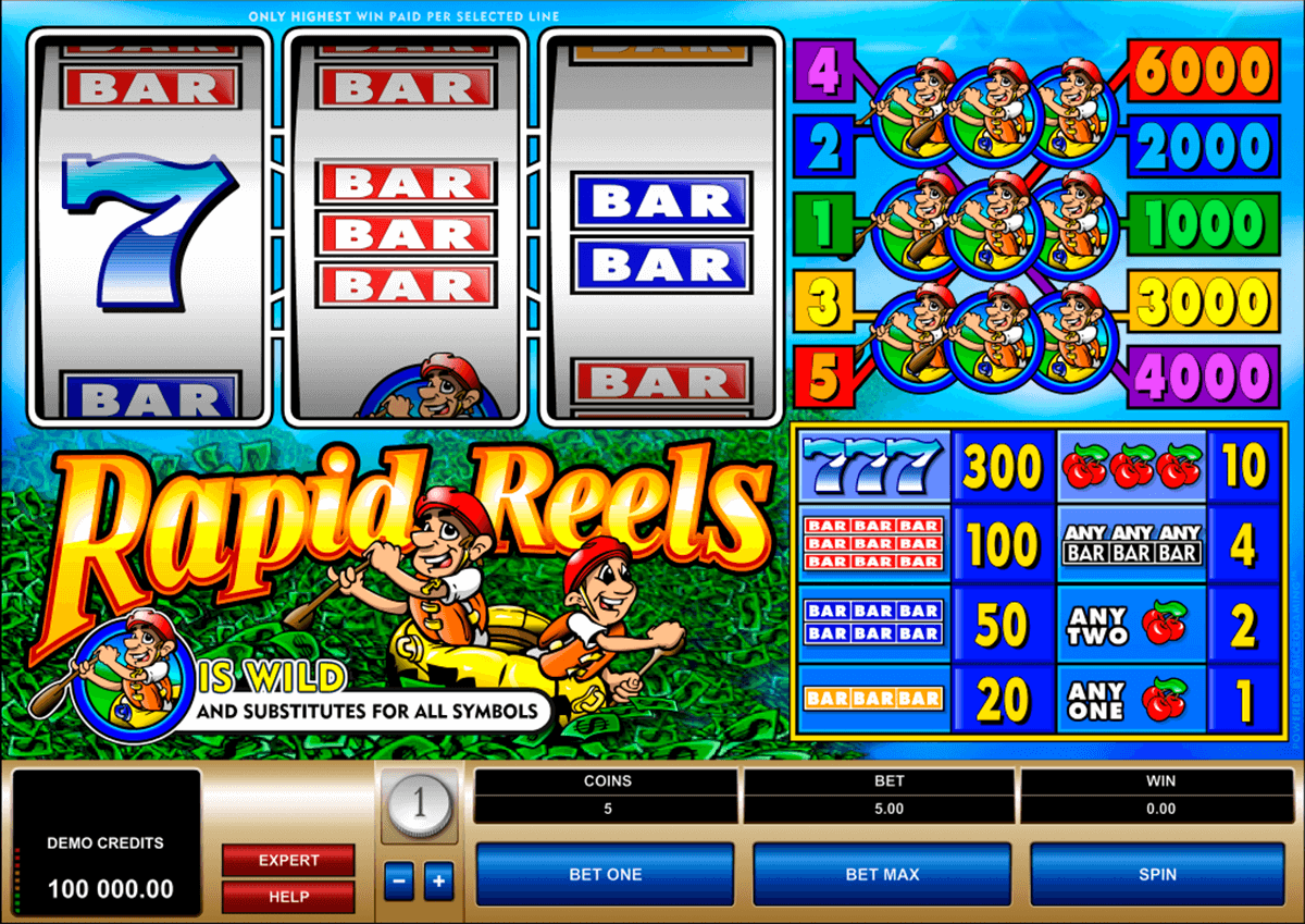 rapid reels microgaming casino gokkasten