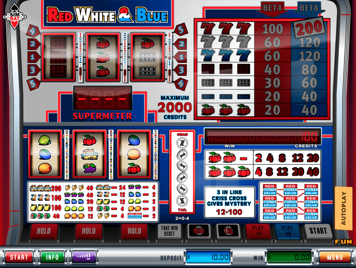 red white blue simbat casino gokkasten