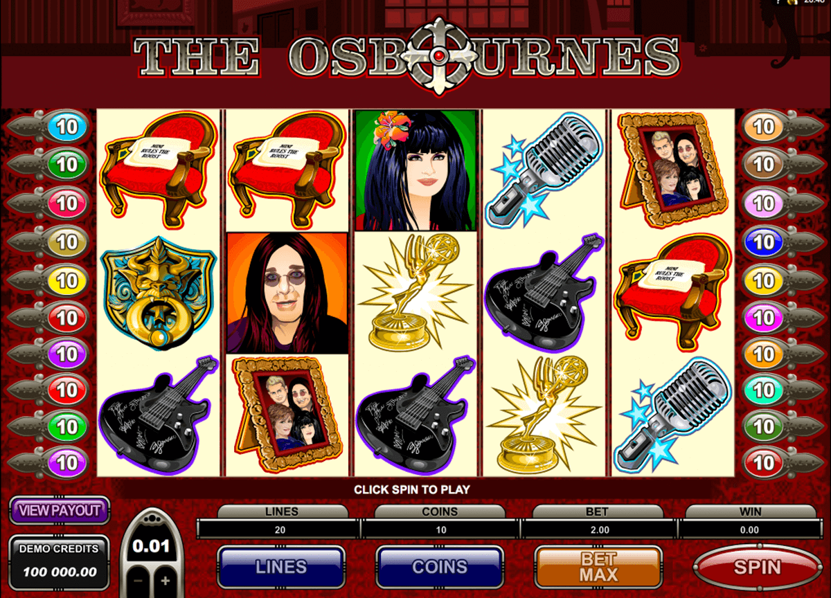 the osbournes microgaming casino gokkasten