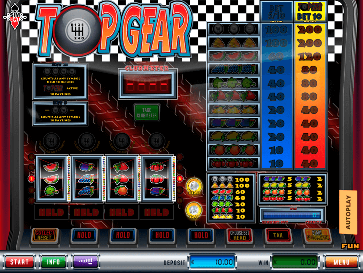 top gear simbat casino gokkasten